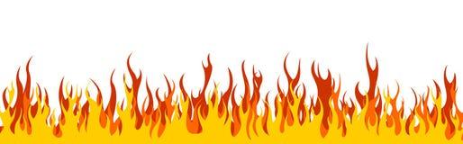 Cabecera/bandera del Web del fuego ilustración del vector
