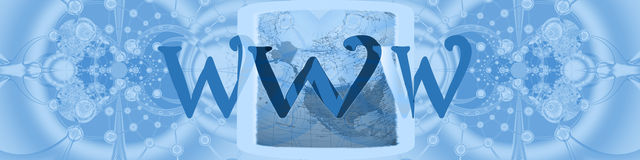 Cabecera: conexiones mundiales con Internet Foto de archivo