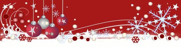 Cabecera decorativa de la Navidad Fotografía de archivo libre de regalías