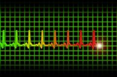 Cabecera del diagrama del pulso de Ekg/ecg Fotos de archivo