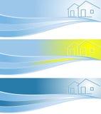 Cabecera del vector para la compañía de propiedades inmobiliarias ilustración del vector