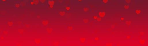 Cabecera del Web del día de tarjetas del día de San Valentín Fotografía de archivo libre de regalías