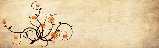 Cabecera floral del Web ilustración del vector