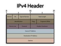 Cabecera IPv4 ilustración del vector