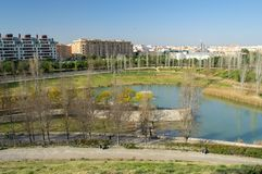 Cabecera Park in Valencia, Spain stock image