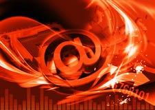 Cabecera roja del hojeador para el sitio Imagen de archivo libre de regalías