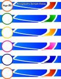 Cabeceras/banderas azules Fotos de archivo libres de regalías