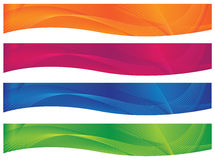 Cabeceras/banderas onduladas - Brights Fotos de archivo