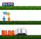 cabeceras del blog 3D Imagen de archivo