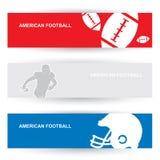 Cabeceras del fútbol americano Imágenes de archivo libres de regalías