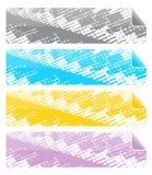Cabeceras o banderas Imágenes de archivo libres de regalías