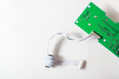 Cabel and green board Stock Image