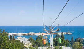 Cabel-way in town Yalta, Crimea Royalty Free Stock Image