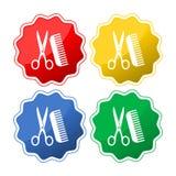 Cabeleireiro Scissors And Comb ilustração stock