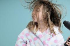 Cabello seco del adolescente caucásico Fotografía de archivo libre de regalías