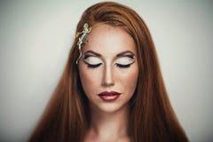 Cabelo alaranjado brilhante Fotos de Stock Royalty Free