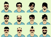 Cabelo, barba e bigode ilustração stock