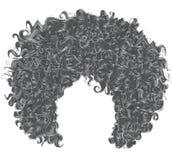 Cabelo cinzento encaracolado na moda 3d realístico penteado esférico Imagem de Stock
