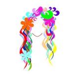 Cabelo colorido Foto de Stock