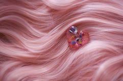 Cabelo cor-de-rosa Imagem de Stock