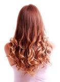 Cabelo curly longo bonito Fotografia de Stock Royalty Free