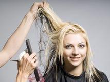 Cabelo da estaca do cabeleireiro Fotografia de Stock Royalty Free