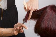 Cabelo da estaca do cabeleireiro fotos de stock royalty free