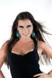 Mulher que lança o cabelo fotografia de stock royalty free
