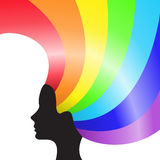 Cabelo do arco-íris Fotos de Stock Royalty Free