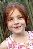 Cabelo e freckles vermelhos Fotografia de Stock Royalty Free