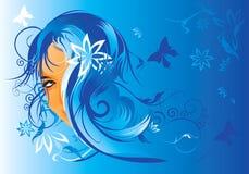 Cabelo floral ilustração stock