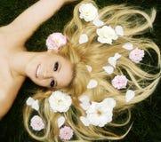 Cabelo Flowery Fotos de Stock