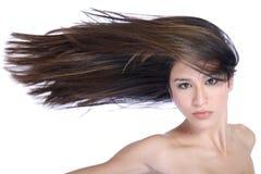 Cabelo no vento Fotografia de Stock Royalty Free