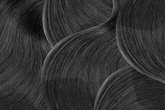 Cabelo preto natural como o fundo abstrato De alta resolução imagem de stock