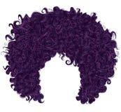 Cabelo roxo encaracolado na moda 3d realístico penteado esférico Foto de Stock