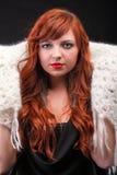 Cabelo vermelho bonito novo do lenço redhead-morno encantador Foto de Stock