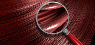 Cabelo vermelho que funde com ampliação Fotografia de Stock Royalty Free