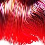 Cabelo vermelho tingido ilustração stock