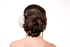 Cabelo-vestido do casamento Imagens de Stock Royalty Free