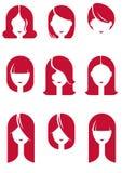 Cabelos das meninas ilustração royalty free