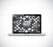 Caber crime laptop sign illustration design Stock Photo