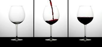 Cabernet τα γυαλιά κρασιού στοκ φωτογραφίες με δικαίωμα ελεύθερης χρήσης