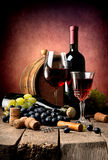 Cabernet and grape Stock Image