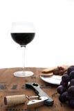Cabernet for One. Cabernet in Globe taken on Wine Barrel stock image
