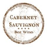 Cabernet Sauvignon grunge rubber stamp Stock Photography