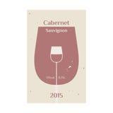 Cabernet Sauvignon label 2 Stock Images