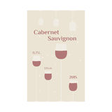 Cabernet Sauvignon label Stock Photography