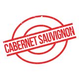 Cabernet Sauvignon rubber stamp. Grunge design with dust scratches. Effects can be easily removed for a clean, crisp look. Color is easily changed Stock Image