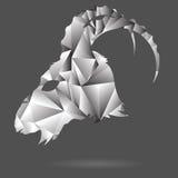 Cabeza abstracta de la cabra Foto de archivo libre de regalías