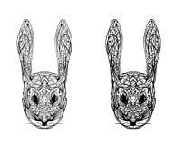 Cabeza abstracta del conejo en un fondo blanco Foto de archivo libre de regalías